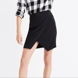 Black Madewell silk mini skirt